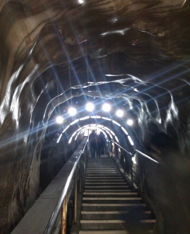 Turda Romania stairs light