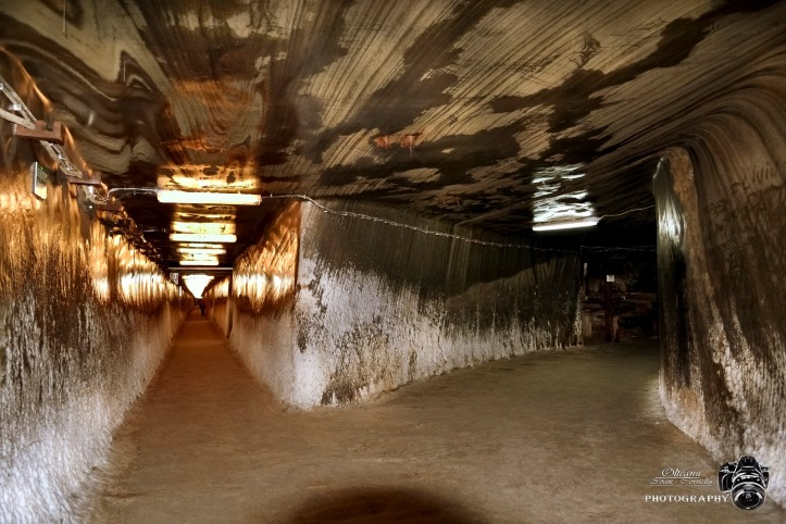turda salt mine tunnels romania photos