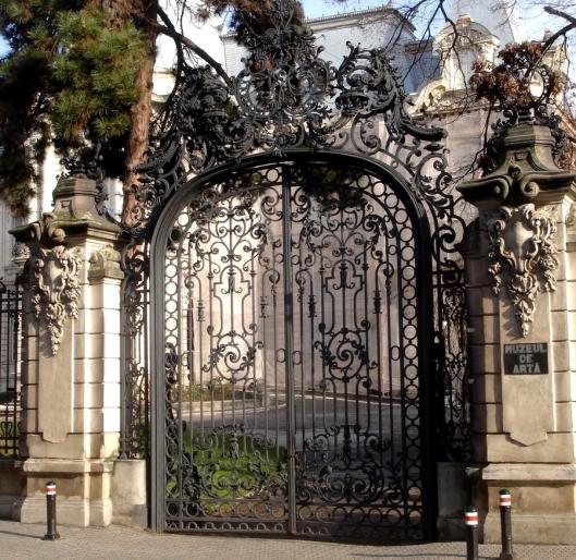 Jean Mihail palace entrance Art museum Craiova Romania