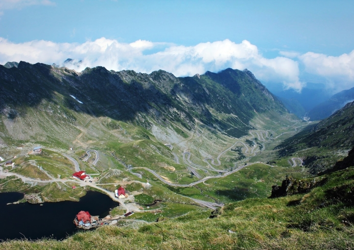 Transfagarasan road most beautiful mountain roads Romania eastern europe Carpathian mountains