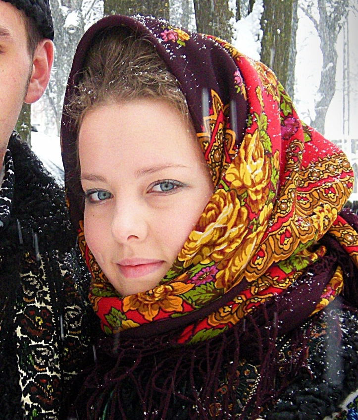 romanians girl traditional costume clothing Bucovina Romania .