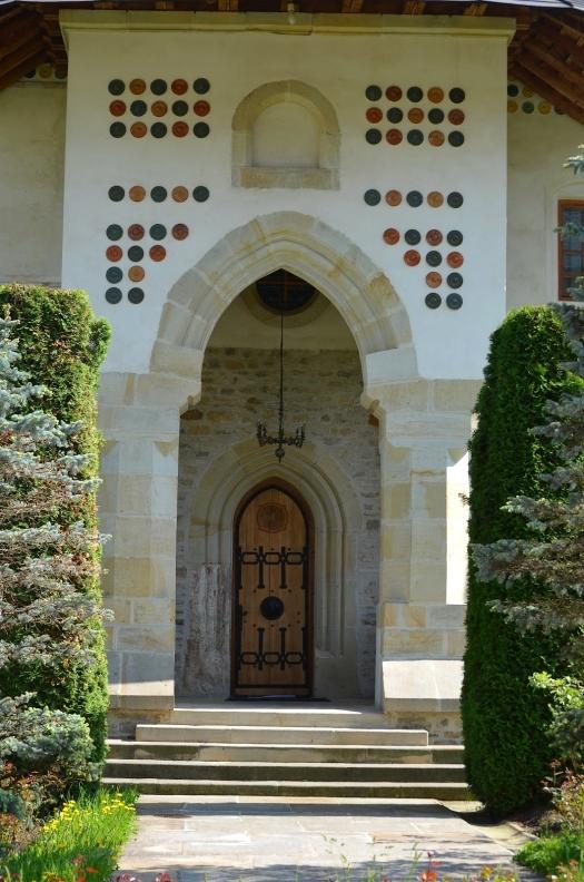 Putna monastery detail architecture orthodox church Romania