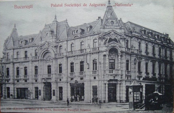 Old photo of the palace before additional stories were built