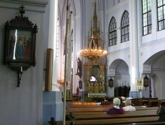 Neo-Gothic Bulgarian church interior Arad Romania bulgarian romanian people