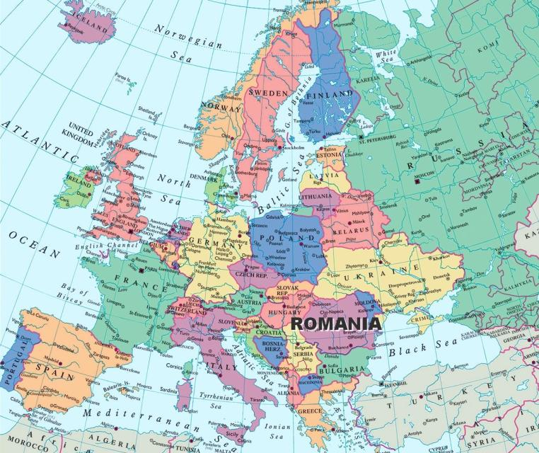 Romania Map European Countries Eastern Europe Maps Romania Dacia - Serbia maps with countries