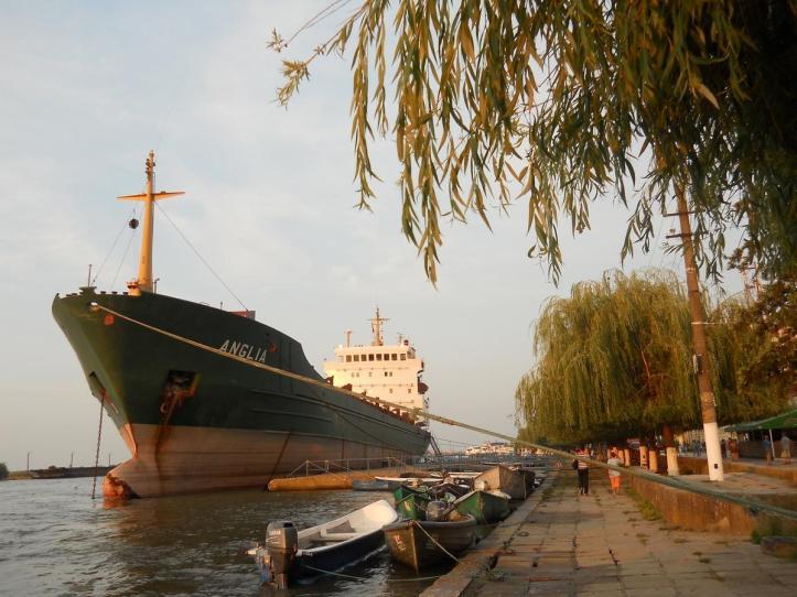 Sulina Town seafront channel ship Black Sea Danube Delta Romania eastern Europe