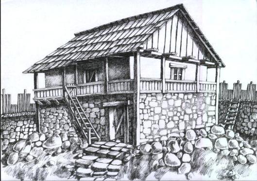 Dacian citadel Ardeu Romania traditional romanian house rural eastern europe