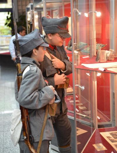 first world war expo museum romanian children soldier costume