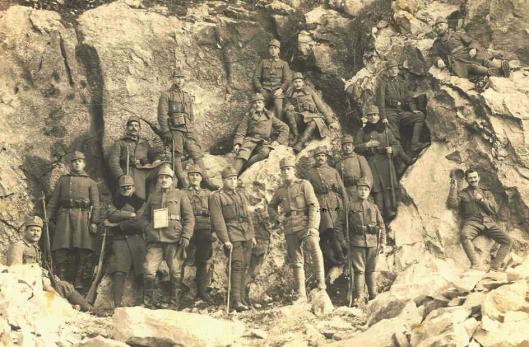 Sublocotenent Eusebiu Jemna romanian men army first world war military