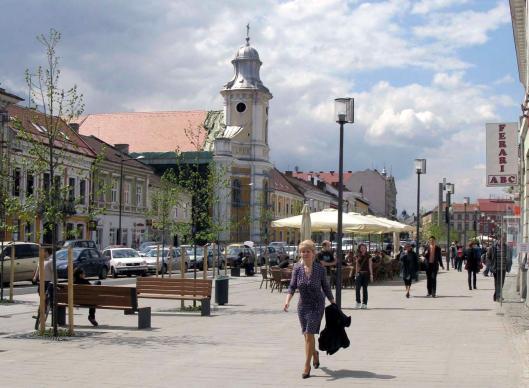 Cluj Napoca boulevard Romania eastern europe