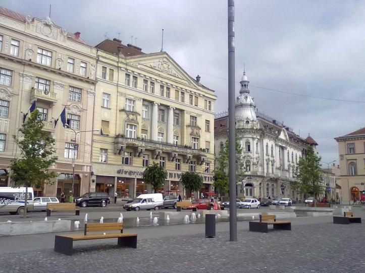Cluj Napoca Unirii Union square Romania eastern europe