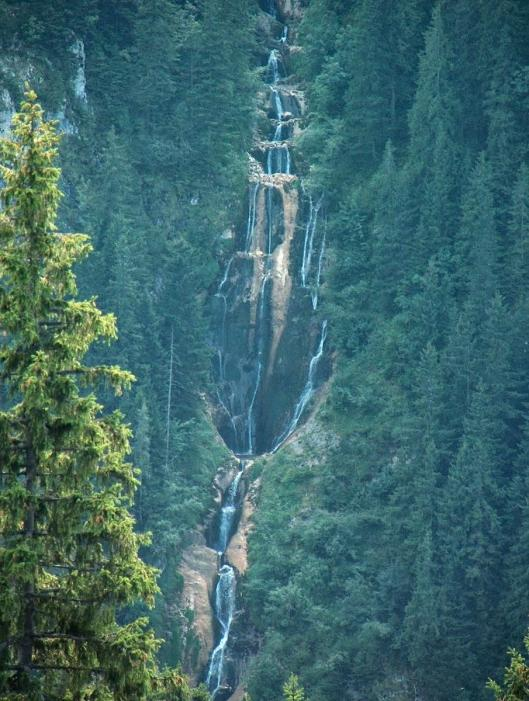 Horses waterfall cascada Cailor Borsa Maramures Romania beautiful european natural scenery Carpathian mountains