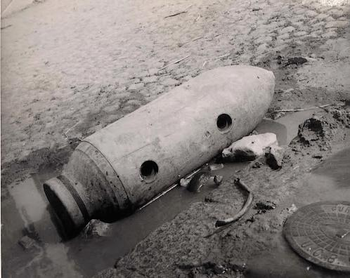 Unexploded bomb in Bucharest