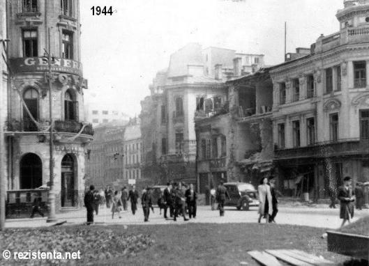calea victoriei Bucharest bombing romania world war 2 bombardamente bucuresti 1944 ww2