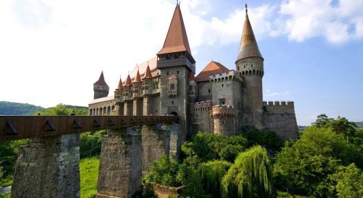Hunyad Corvin medieval castle Romania Transylvania